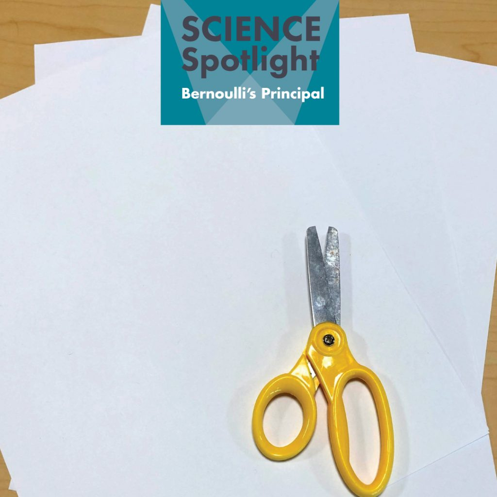 scissors and paper to test Bernoulli principal