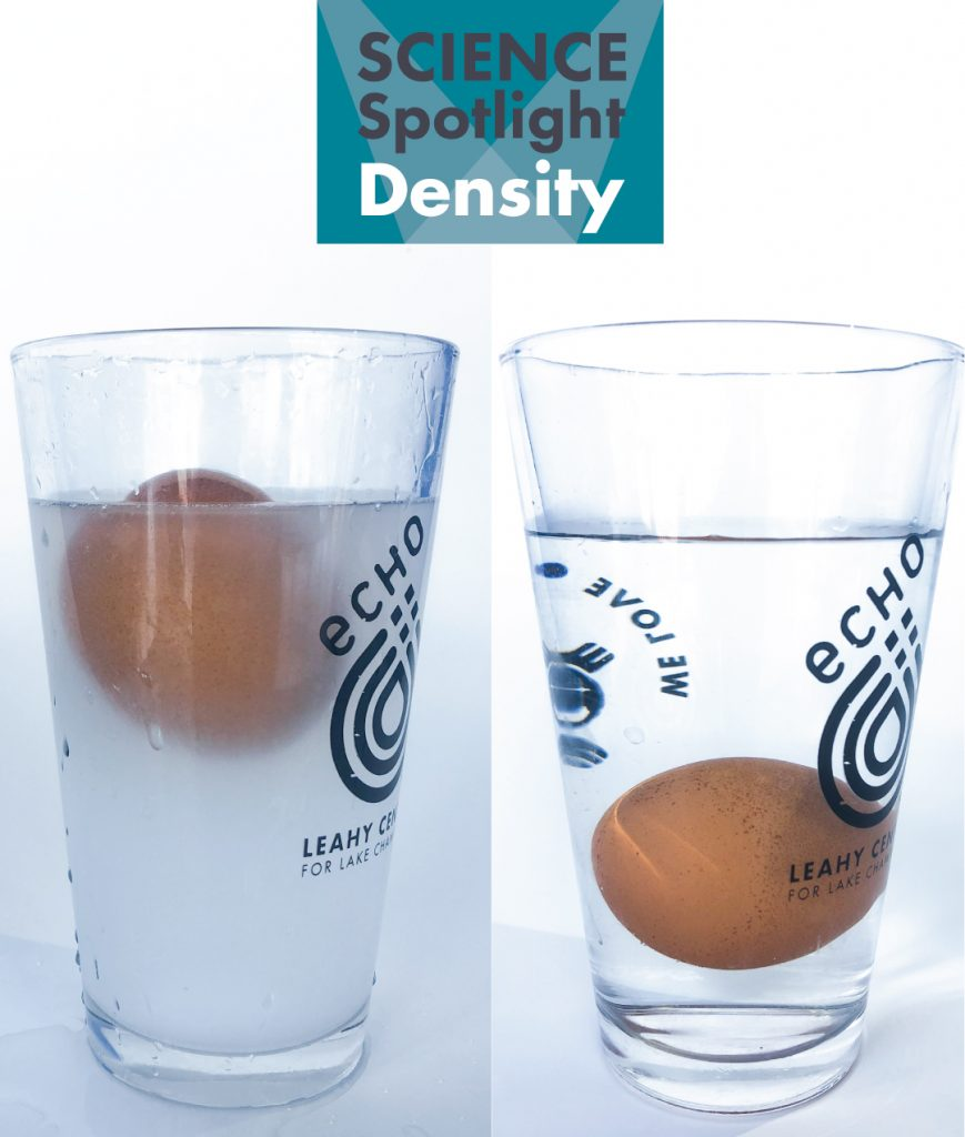 Egg sinking and floating in cups