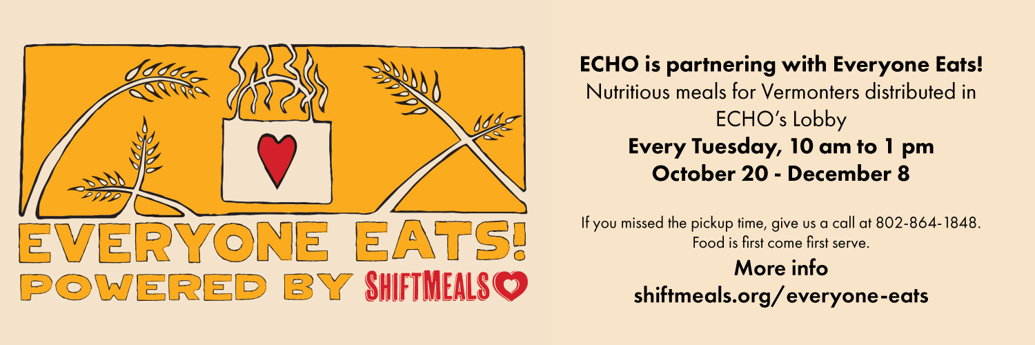 Everyone Eats partners with ECHO: Stop by ECHO's Lobby every Tuesday, 10 am to 1 pm, for nutricious meals.