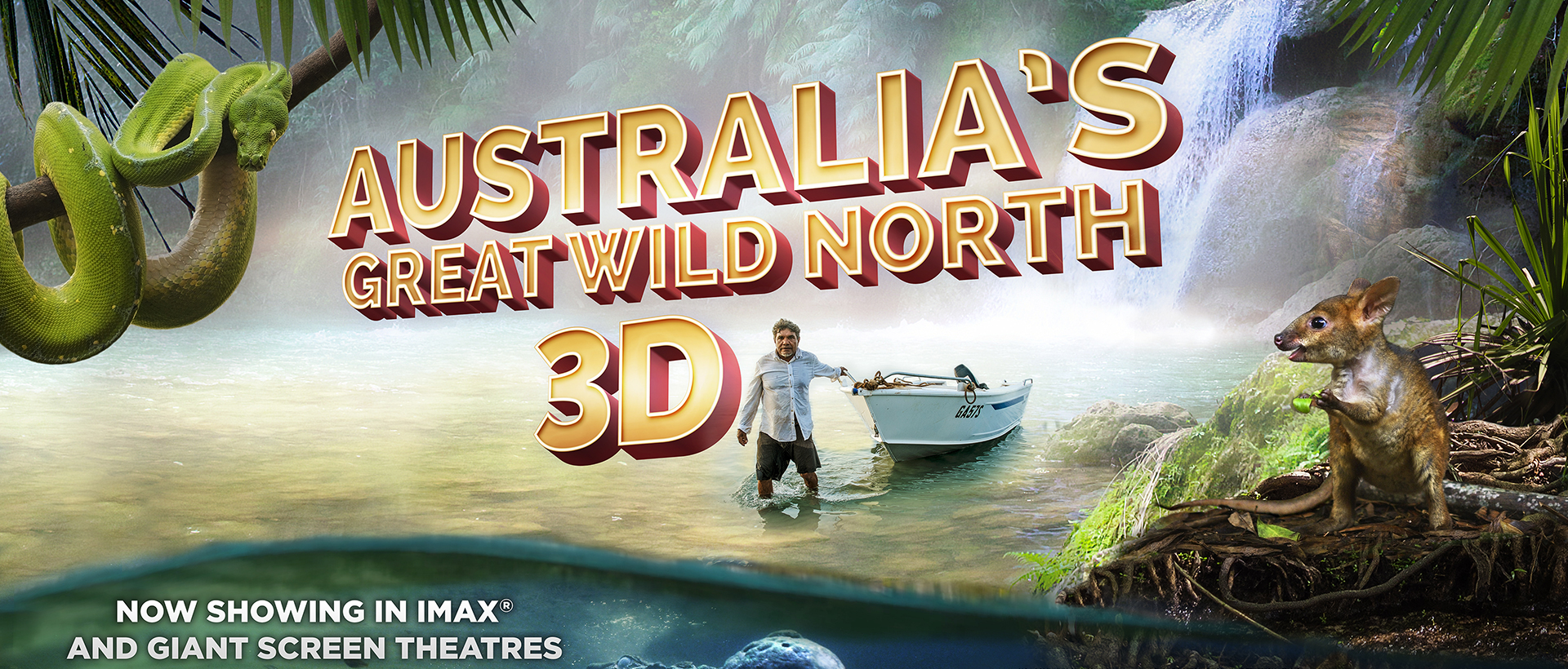 Australia's Great Wild North 3D movie poster